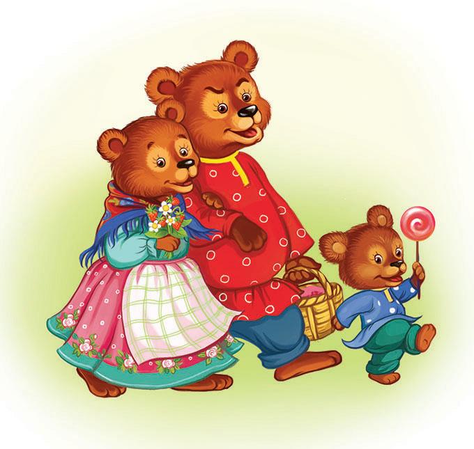 предметные картинки к сказке три медведя потом, если предупредил