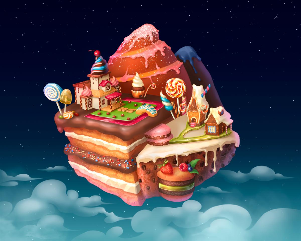 картинки сладкий остров