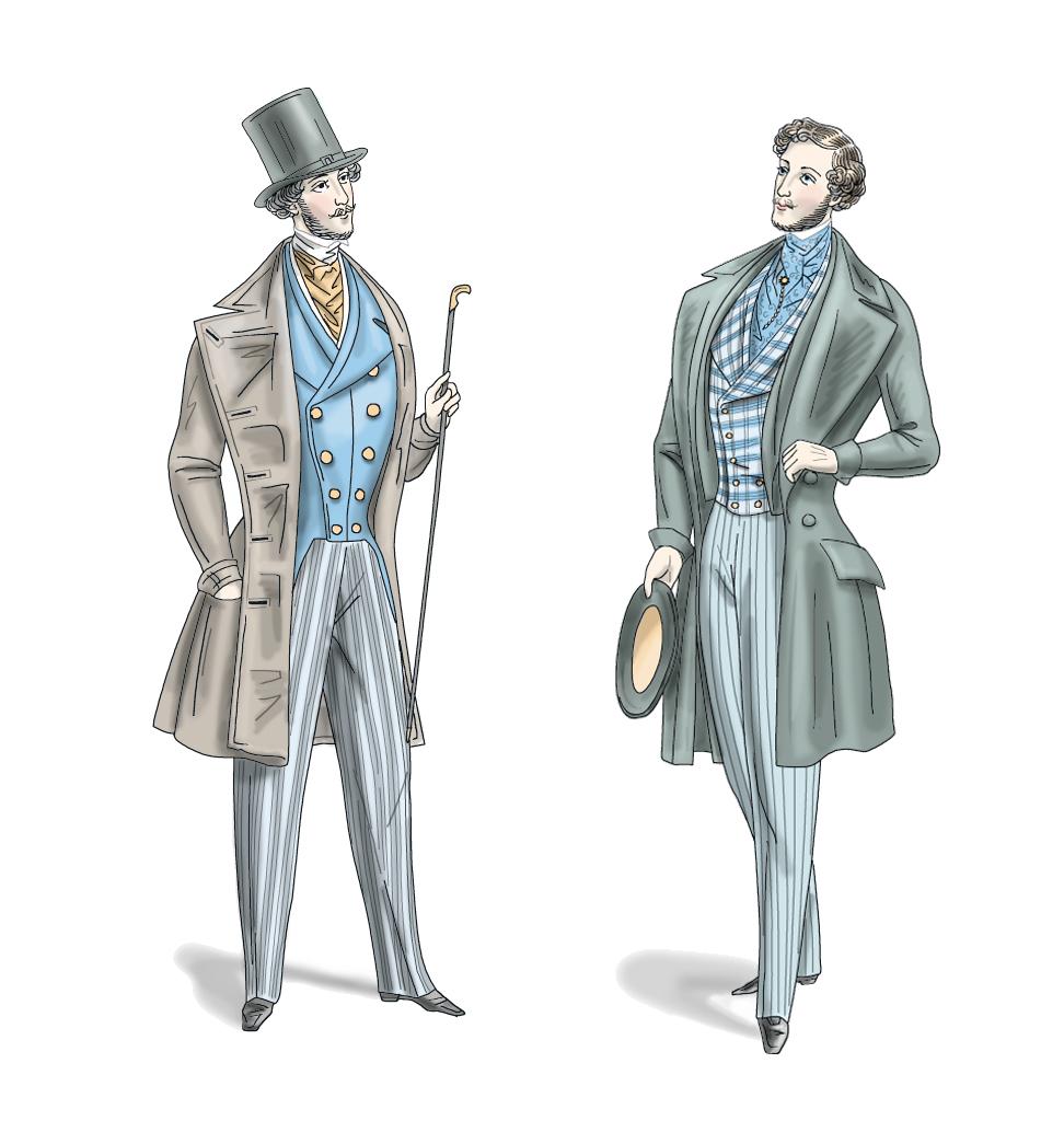 основная мужская мода в картинках история что