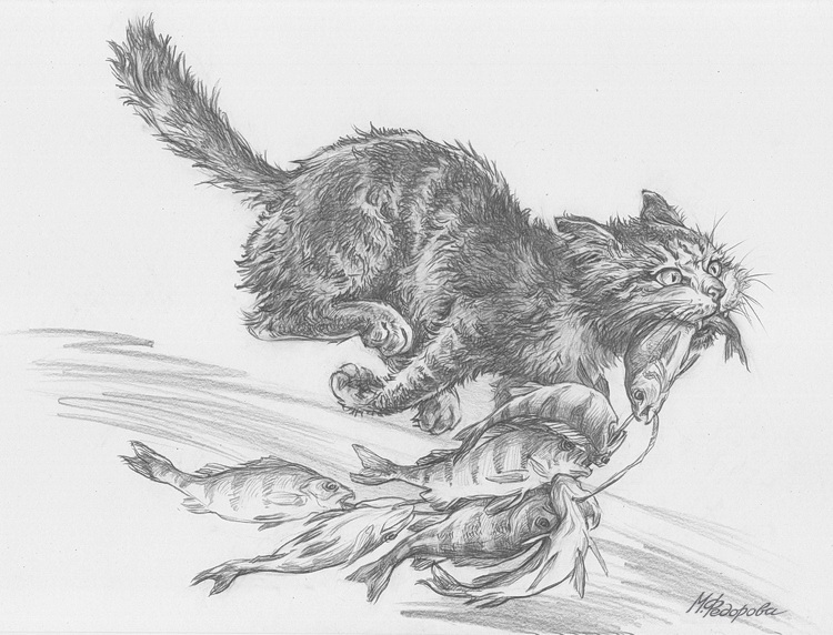 прошедшие кот ворюга картинка для разукрашивания накануне