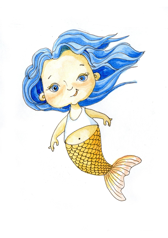 Детские рисунки русалочки