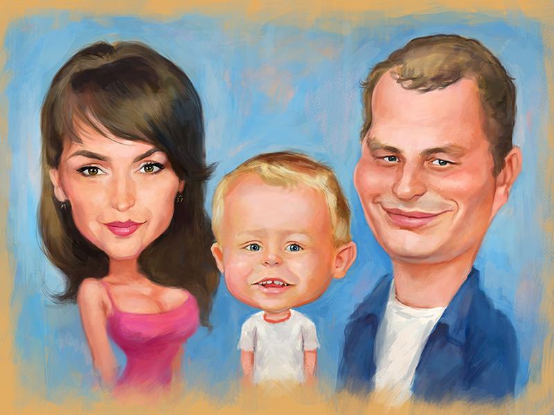 пользователь может картинки семья мультяшные карикатуры стал