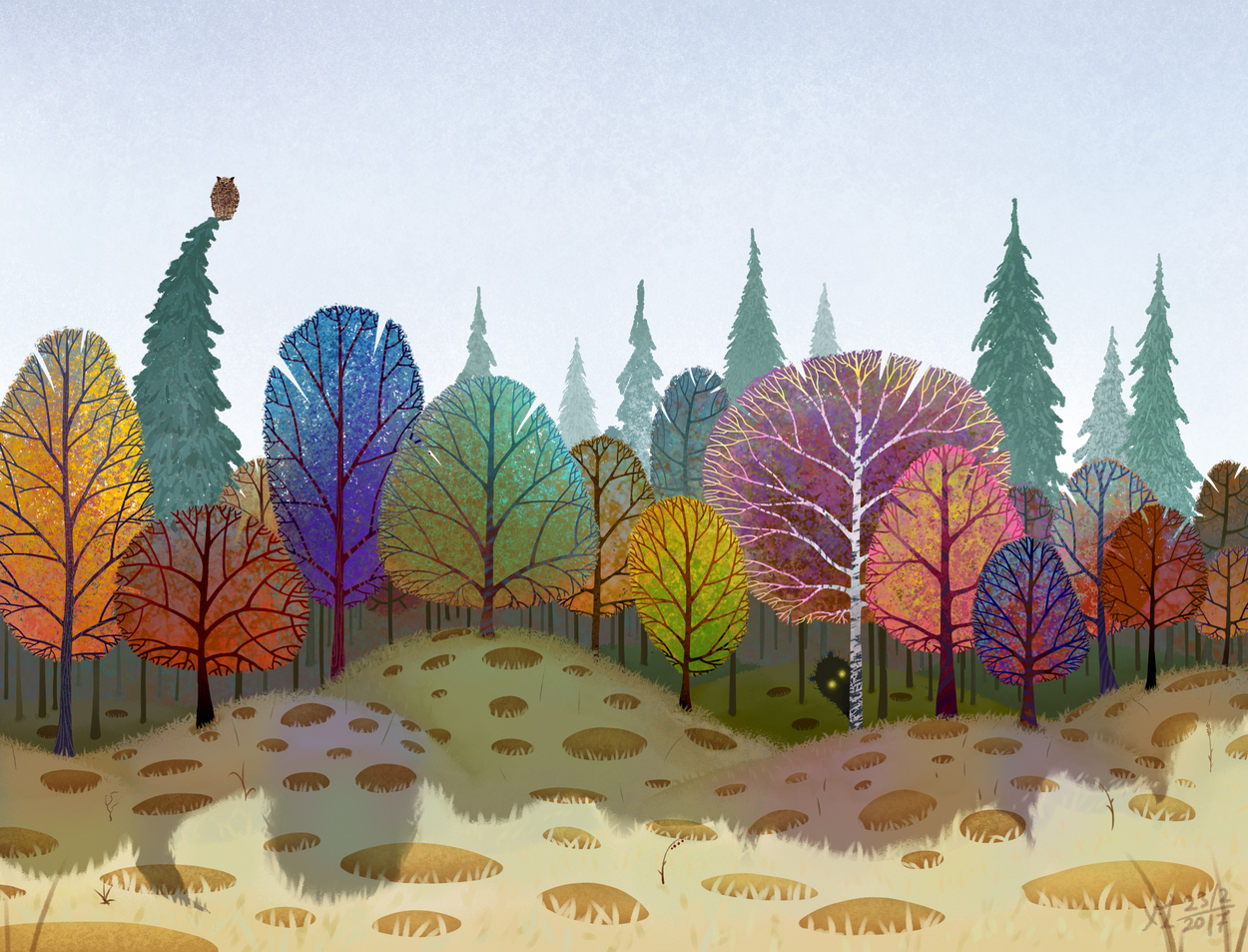картинка для аппликации лес оставался