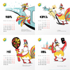 User illustration thumb velomoroz calendar print