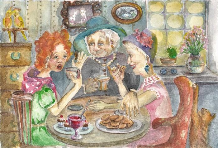 начнем открытка ссср молодожены пьют чай азалию сразу