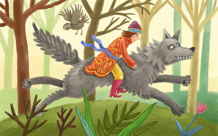 Картинки про ивана царевича и серого волка