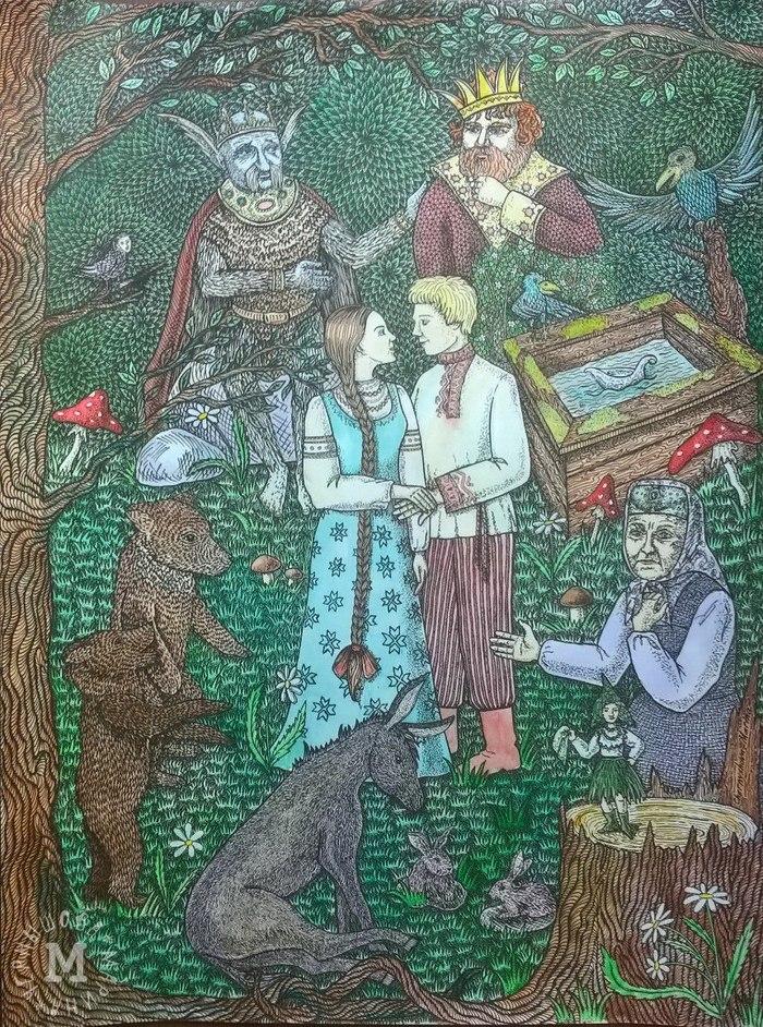 плодородной картинки сказки марья краса молодости