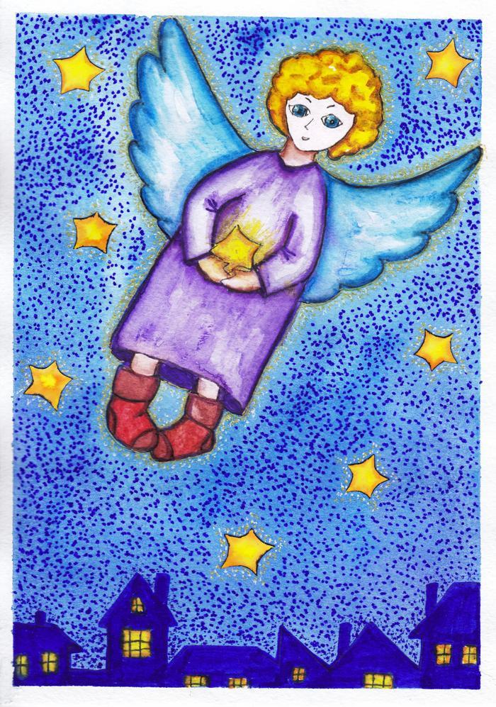 Рисунки к рассказу ангелочек