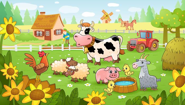 Ферма анимация картинки, доброе