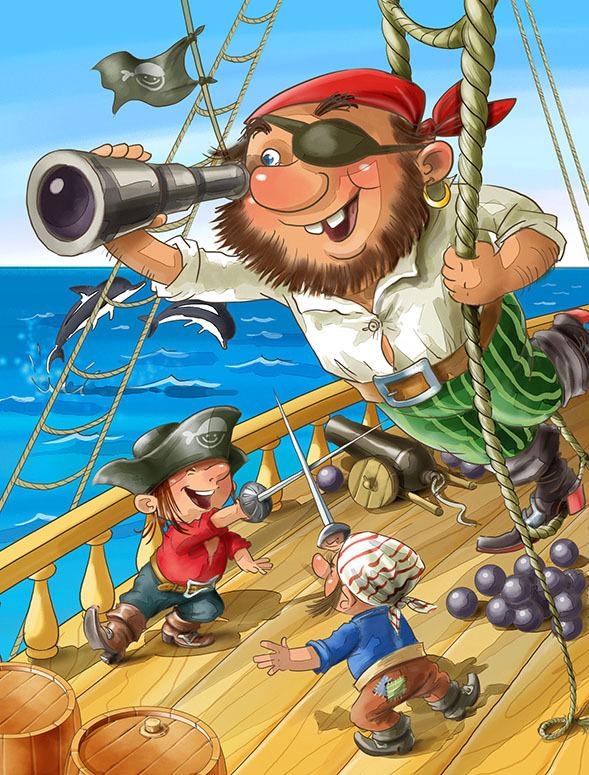Картинки пират мультик