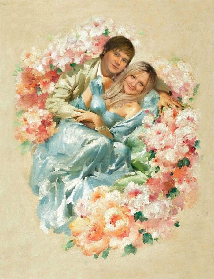 Картинки с поцелуями и цветами