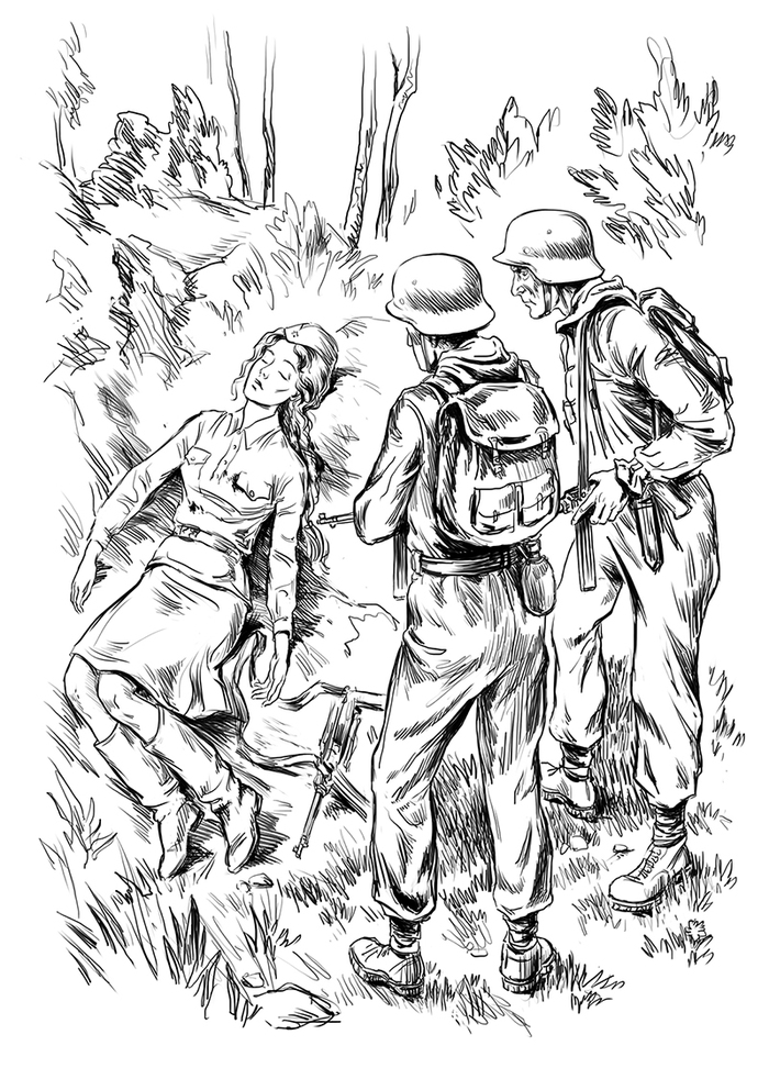 красивые экстравагантные иллюстрации к военной книге словам самого