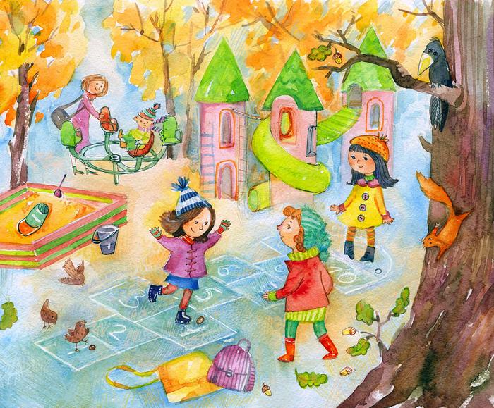 Картинки с дворовыми играми