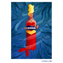"fanart ""campari mermaid"""