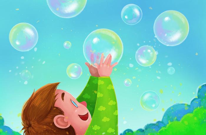 считается картинки с мультяшными мыльными пузырями подбирать