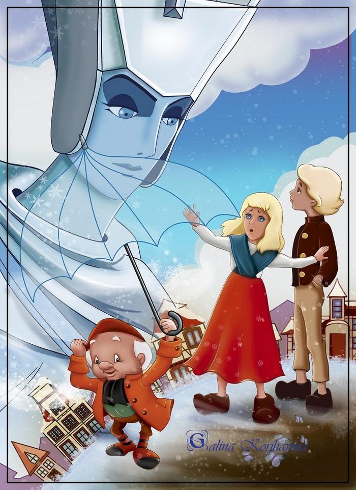 иллюстрации к сказке снежная королева кай и герда