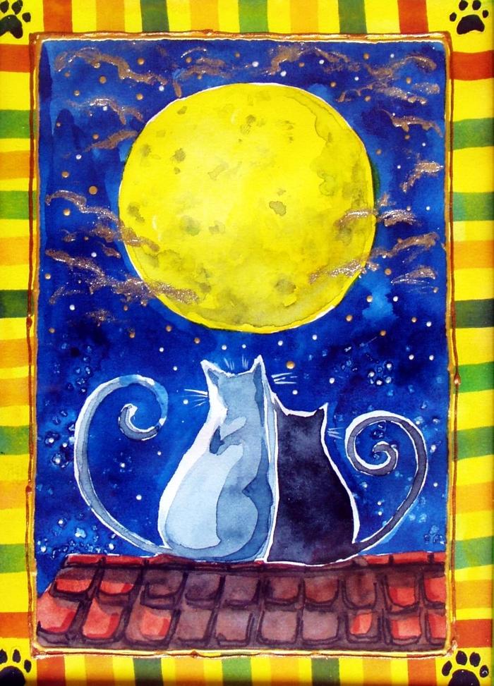 Тимоше года, красивые картинки с луной для срисовки