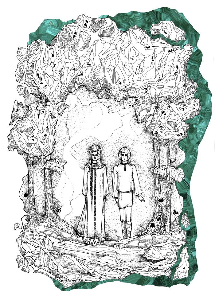 Сказ бажова каменный цветок рисунок