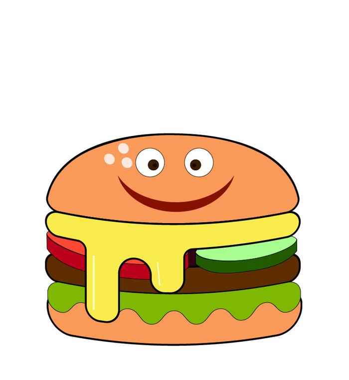 Картинки гамбургер с глазами