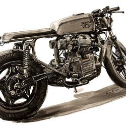 мотоцикл, кафешник нате базе Honda GL500