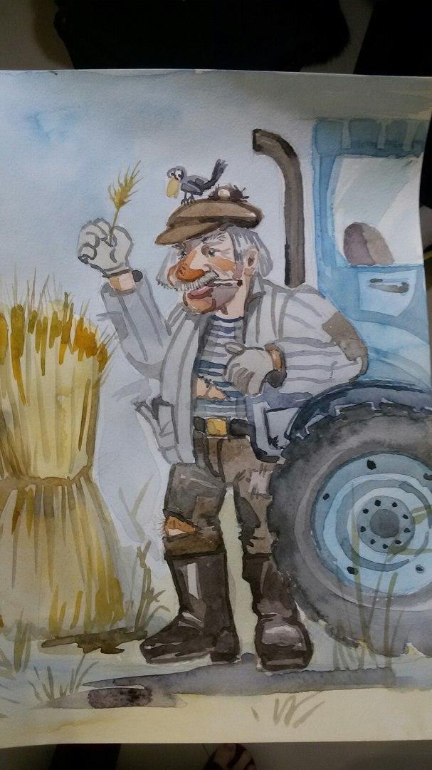 восстановить картинки на тему приколы про трактористов кофе белой чашке