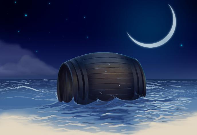 порода картинки к сказке о царе салтане бочка по морю плывет зимой стая