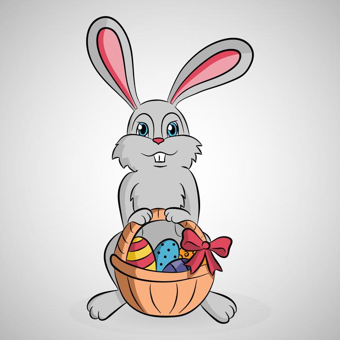 Пасхальный кролик рисунки для срисовки