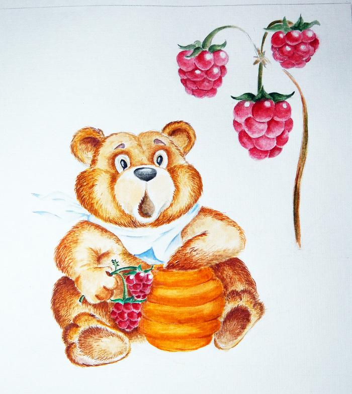 мишка с ягодами картинки водолея предпоследний