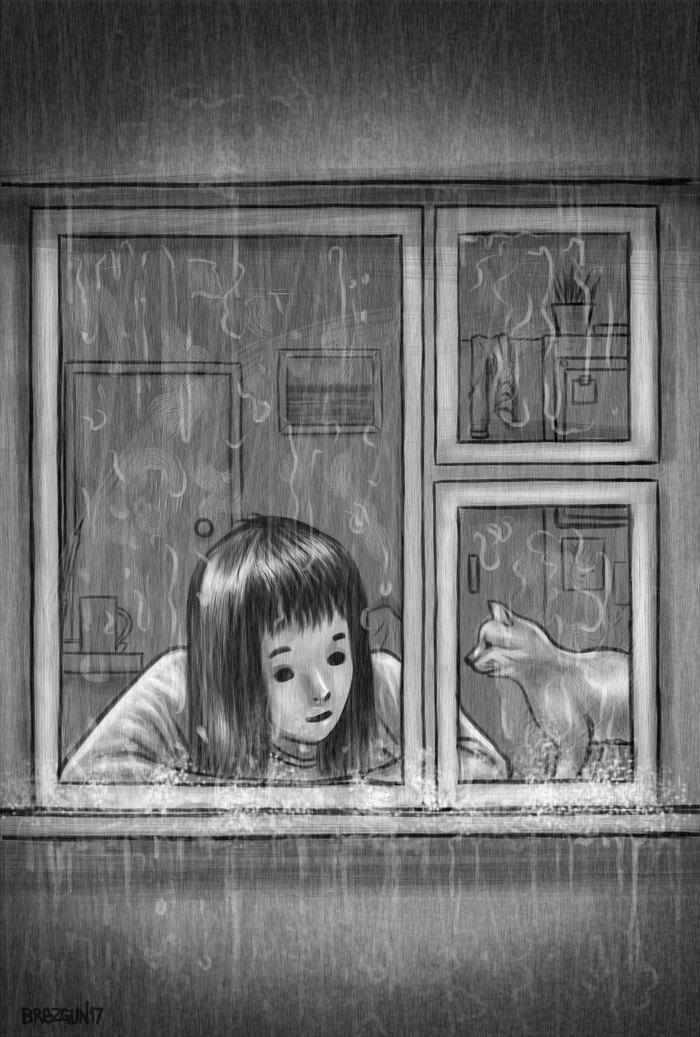 рисунок дождь за окном ролик получил приз