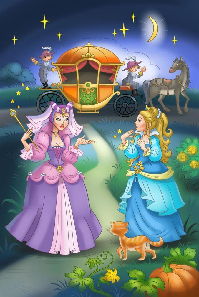Картинка золушка из сказки для детей
