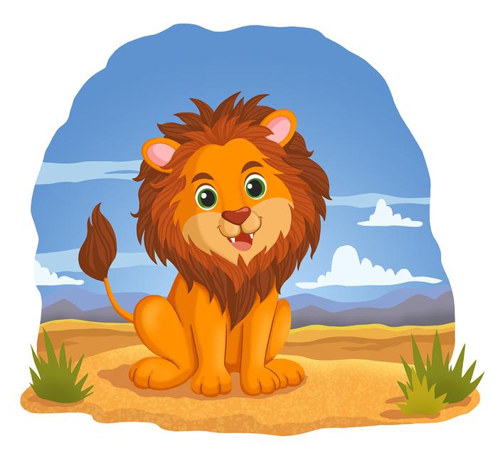 Картинка с изображением льва для детей