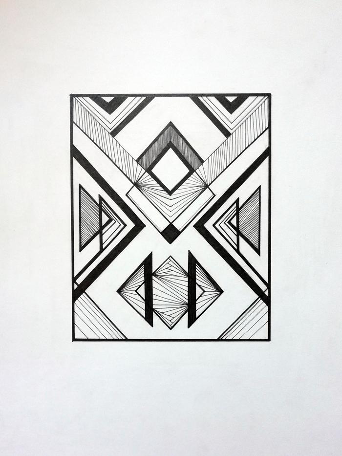 Картинки, геометрические рисунки смешные