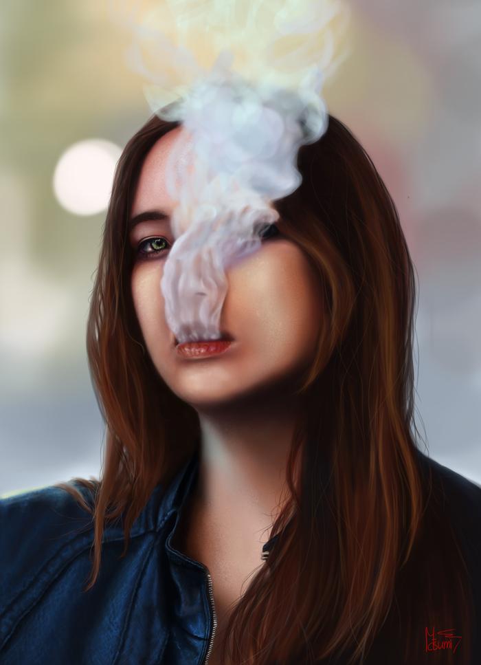фотки дым изо рта должен выглядеть