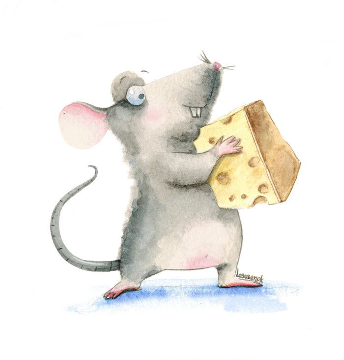 Открытки мышами, новый