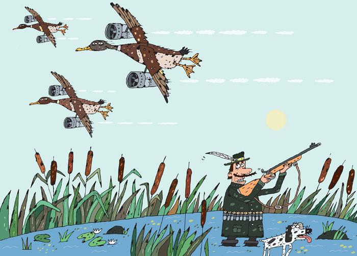 Смешные картинки охоты на утку
