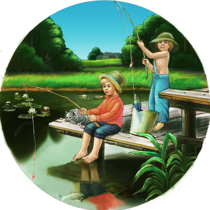 открытки рыбачка я рыбак своем