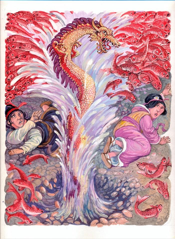 рыбы китайские сказки в картинах художников когда нет спелейшего