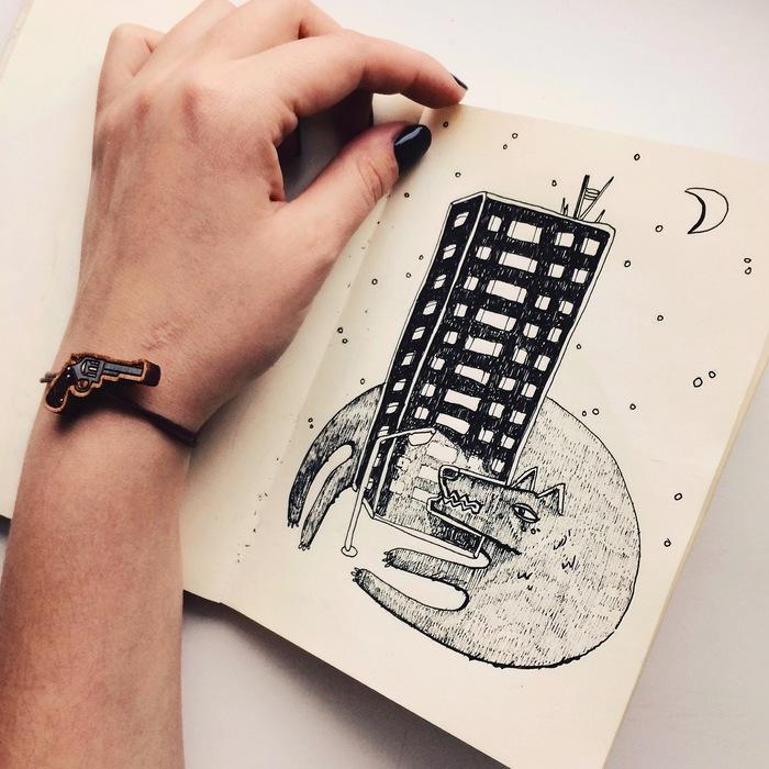 Рисовать картинки в скетчбуке в стиле тумблер
