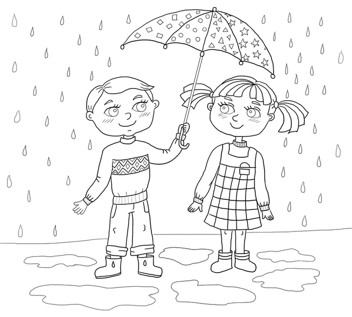 Картинки на тему дружбы раскраски