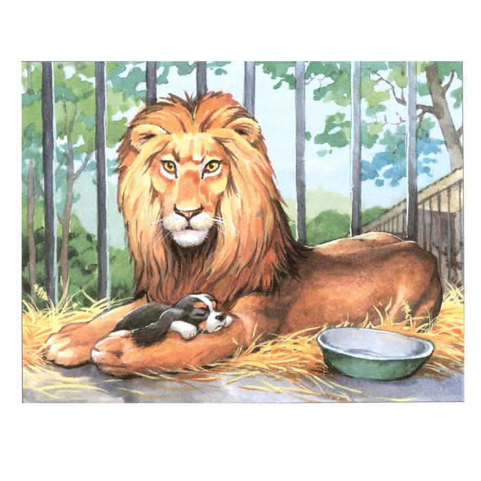 Рисунок к были лев и собачка