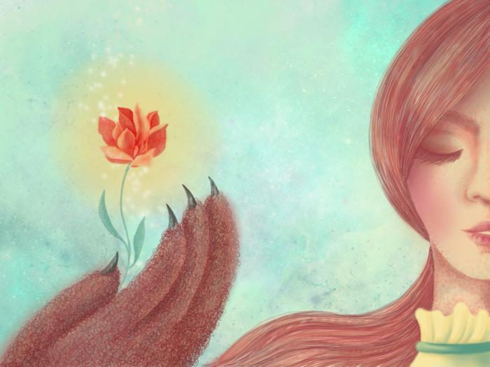 Аленький цветочек картинки срисовать
