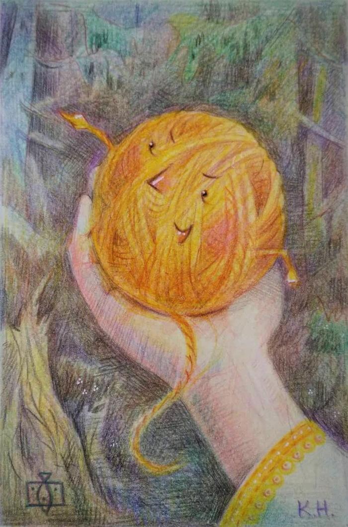 Картинка клубка ниток из сказки