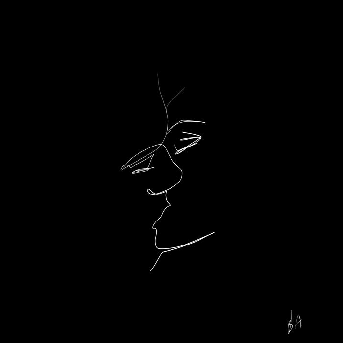 Рисунок одной линией поцелуй, сделать картинку
