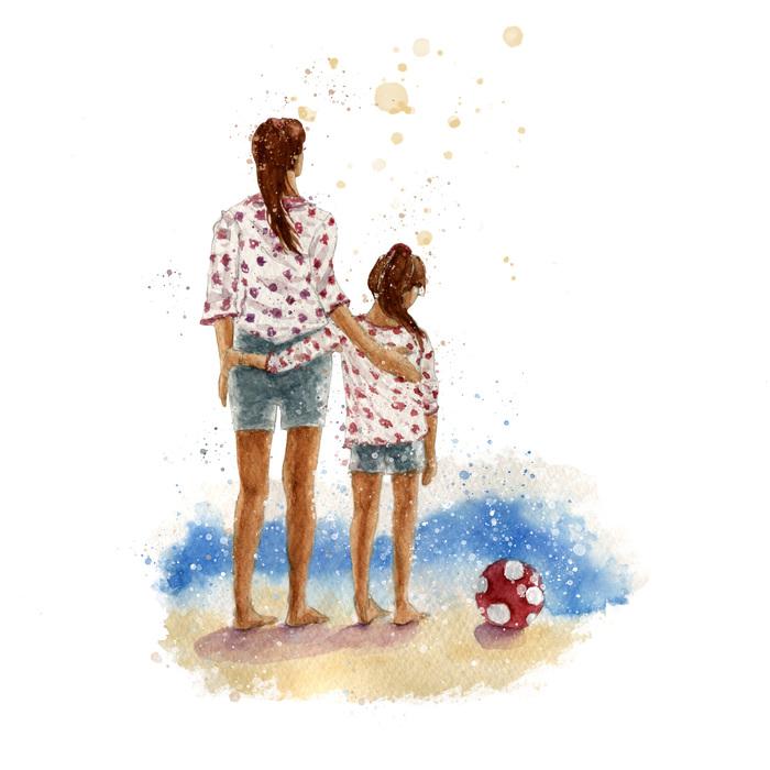 картинки фэшн иллюстрации мама и дочь дело том, что