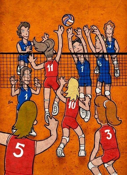Волейбол юмор в картинках