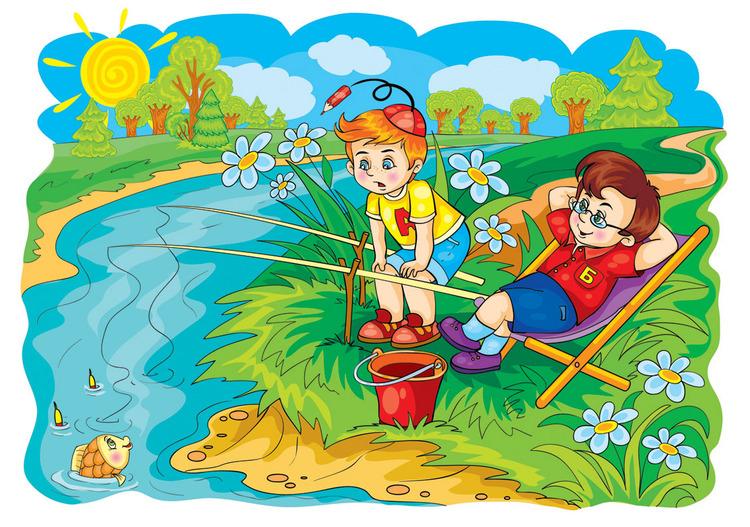 картинки летом дети