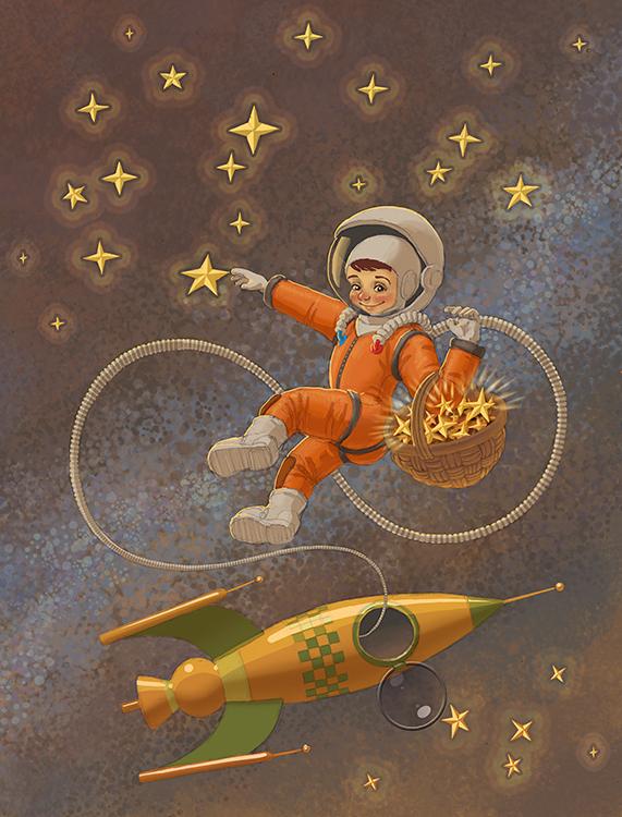 Верь мечту, открытки космонавтов
