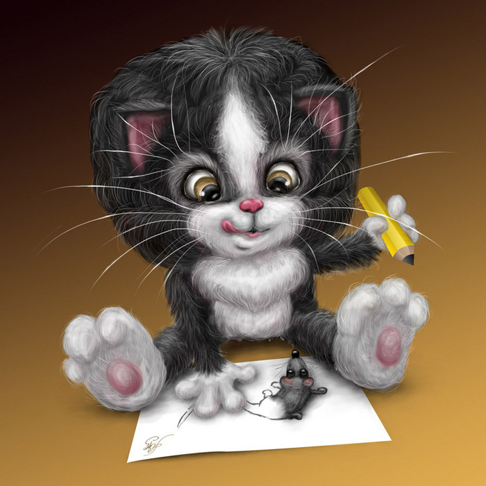 Анимашки котики привет