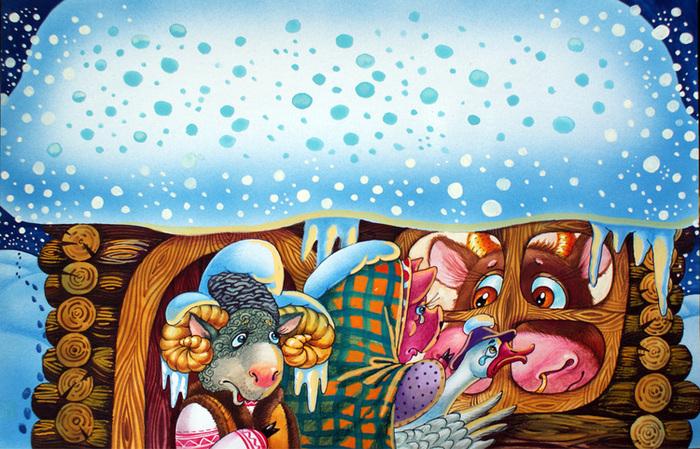 мини иллюстрации к сказке зимовье зверей традиции относятся напрямую
