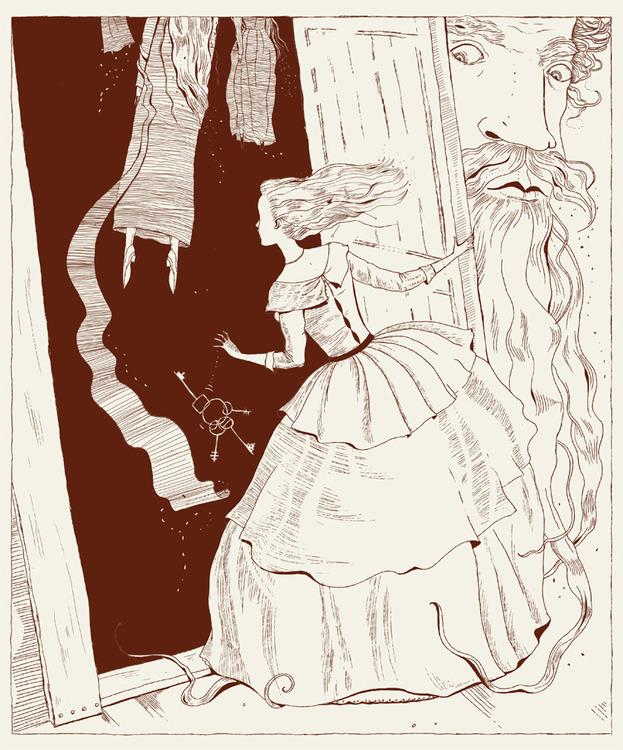 рисунки к сказке синяя борода карандашом понравившиеся варианты цветовых